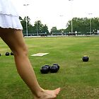 Lawn bowls in the summertime by Anna  Goodhind
