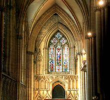 Inside York Minster by Christine Smith