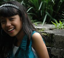 little girl with nice smile expression  by bayu harsa