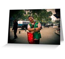 traffic warden Greeting Card