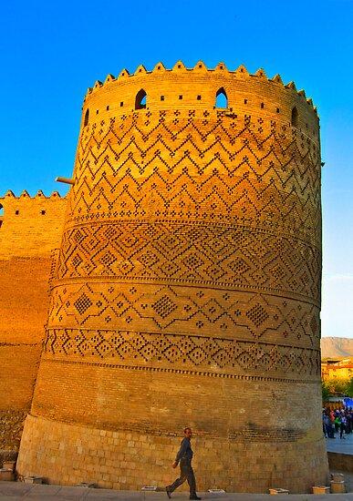 The Leaning Tower of The Arg of Karim Khan - Shiraz - Iran by Bryan Freeman