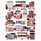 Streat Town on White by STREAT