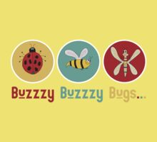 Buzzzy Bugs with Ladybug, Bee and Dragonfly Kids Clothes