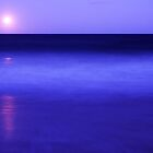Full moon over surf, Wooli by Robert Ashdown