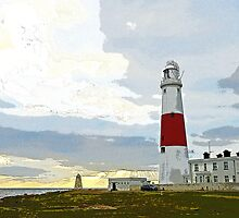Portland Bill Lighthouse & Obelisk, Dorset, UK by buttonpresser