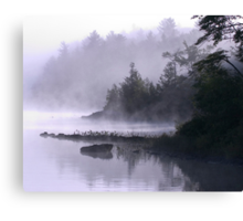 Misty Morning at Kennebec Lake, Ontario Canvas Print