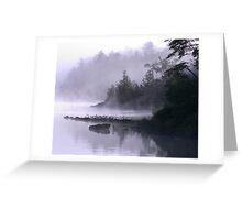 Misty Morning at Kennebec Lake, Ontario Greeting Card