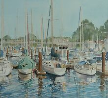 Harbor Reflections by Sally Sargent