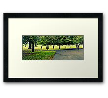 Autumn Bicycle Ride Framed Print