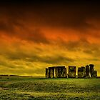 Stonehenge - The sun sets over this beautiful monument by Lord William Chard