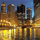 Chicago River Buildings Reflections by kodakcameragirl