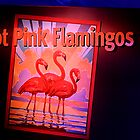 Hot Pink Flamingos by Bob Wall