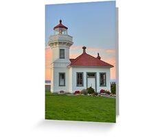 Mukilteo Lighthouse at Sunset Greeting Card