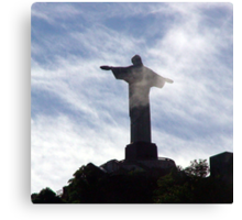 Corcovado in the clouds - a Rio Icon Canvas Print