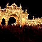 Mysore Palace by Night by Bruno Amaral Pereira