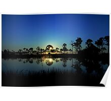 Sunrise at the  wildlife management area Poster