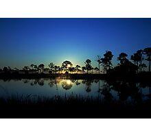 Sunrise at the  wildlife management area Photographic Print