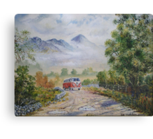 Road to Croagh Patrick. Canvas Print