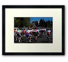 Baden Cooke & Fabian Cancellara Framed Print