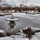 Rankei Lantern, Osaka Garden, Winter by James Watkins