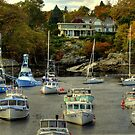 Perkins Cove Harbor by Monica M. Scanlan