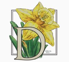 D is for Daffodil - patch Kids Clothes