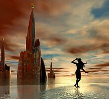Spiral Towers by Sandra Bauser Digital Art