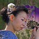 Fan dancer by Linda Sparks