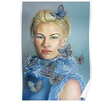 Chelsea  with butterflies Poster