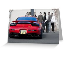 RX7 with Onlookers Greeting Card