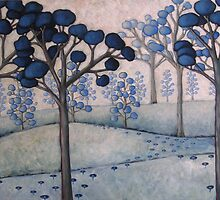 blue landscape #2 by Sorina Williams
