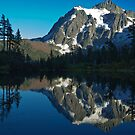 Mountain & Reflection in Color by Appel