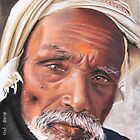 Varanasi man by Colombe  Cambourne
