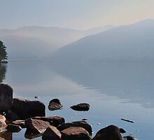 Early Morning Mist, Ennerdale Water, 12th Oct 2010. by Phil Mitchell