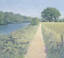 River Thames between Scours Lane and Caversham by Richard Picton