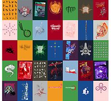 Wall of Tees by Martin Millar