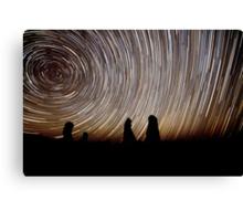 Pinnacles Star Trails Canvas Print