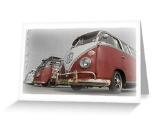 VW Bus line up Greeting Card
