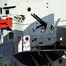 Guns on HMS Belfast by Chris Day