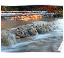 Evening on Bull Creek Poster