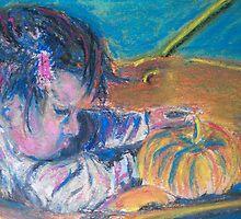 First Pumpkins (Pastel) by Niki Hilsabeck