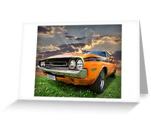 orange juice Greeting Card
