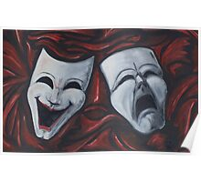 Drama Masks in Oil Poster