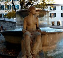 LADY BY FOUNTAIN by Charmiene Maxwell-batten