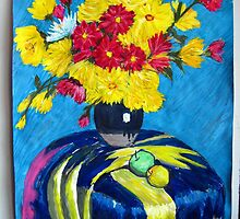 Flowers & Table cloth by jatro