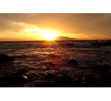 Bright Maui Waves  Photographic Print