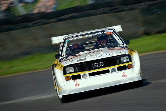 Audi Quattro powerslides by Martyn Franklin
