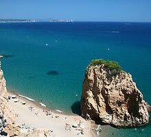 Unusual rock off Pals beach Costa Brava Spain by Paul Pasco