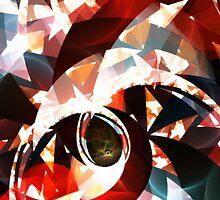 Abstract Fractal, Luna Park, Black by XAgita