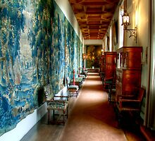 The Long Tapestry Galley at Falkland Palace by Christine Smith